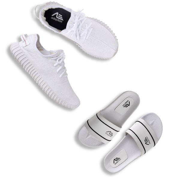 Kit Tênis Easy e Chinelo Adaption Branco