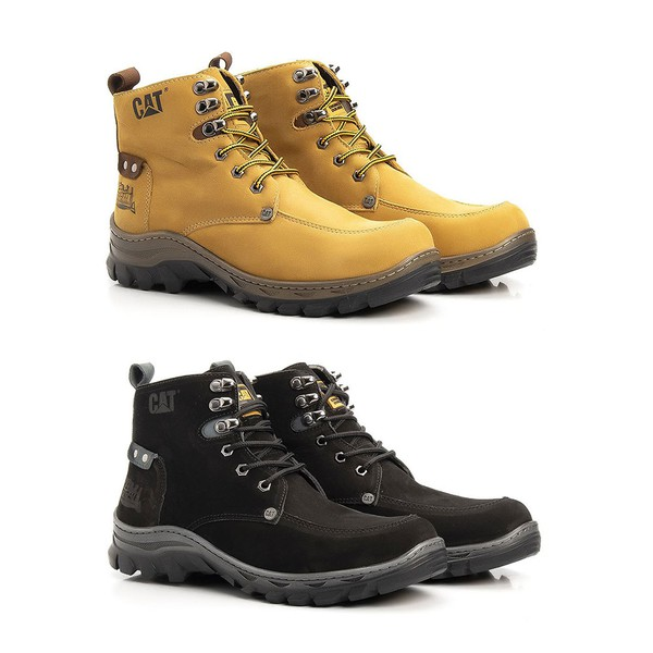 Kit 2 Botas Caterpillar Confort Fielder
