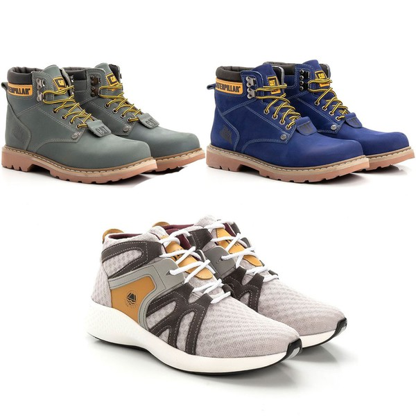 Kit 2 Botas Caterpillar Second Shift + Tênis Jhon Boots Yeezy 360° Sneakers Urban