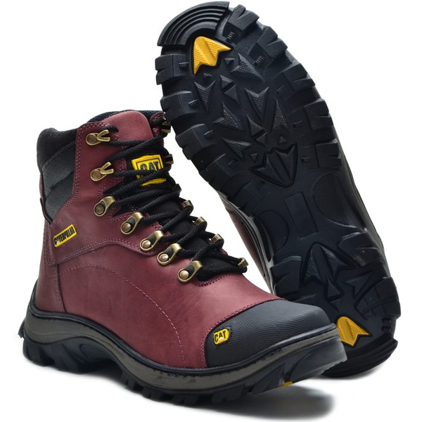 Bota Caterpillar Couro Purple