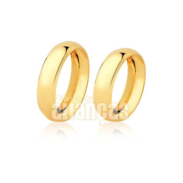 Alianças de Noivado e Casamento tradicionais de ouro 18k