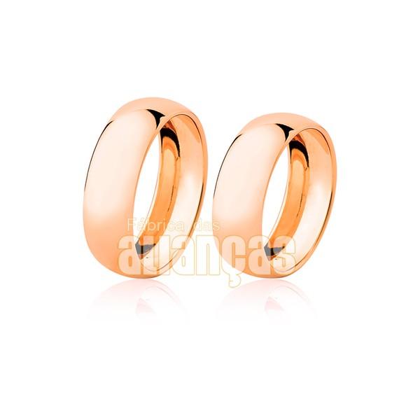 Alianças de Noivado e Casamento em Ouro Rosê 18k