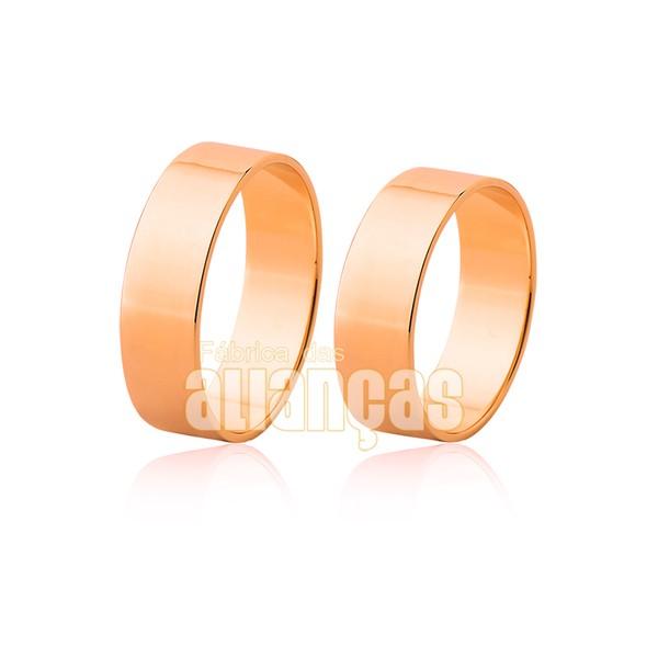Par De Alianças Em Ouro Rosê 18k