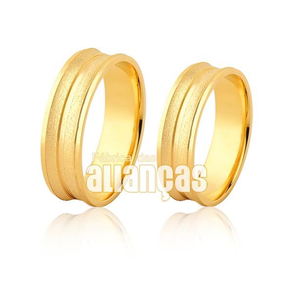 Par De Alianças Diamantadas De Ouro 10k