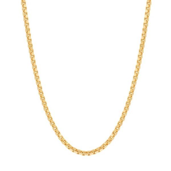 Gargantilha folheada a ouro fio veneziana - tam.60 cm
