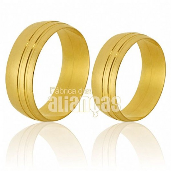 Alianças de ouro 18k
