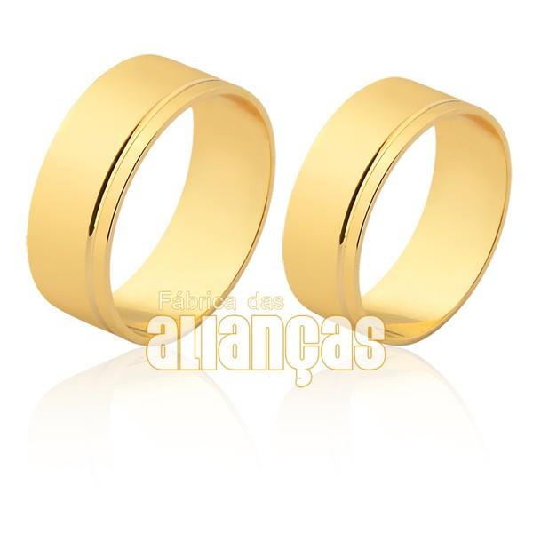 Alianças de ouro 18k com frete gratis