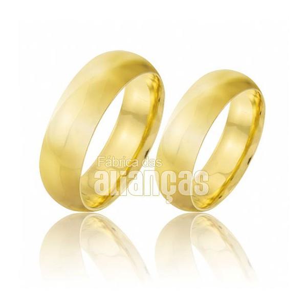 Alianças de ouro de noivado anatomica