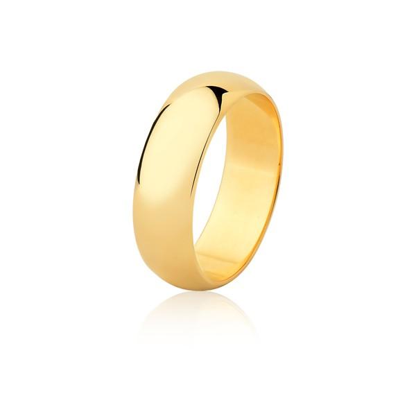 Aliança Ouro Amarelo 18k (6,50mm)