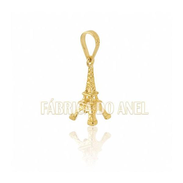 Pingente Exclusivo de Torre Eiffel em Ouro Amarelo 18k