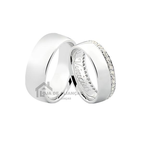 Alianças De Namoro De Prata Com Pedras ♥