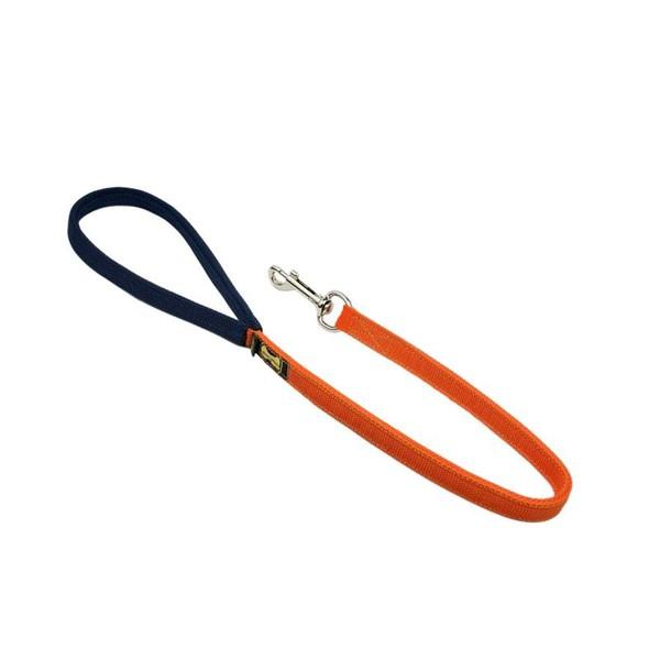 GUIA CURTA AMOROSSO® (laranja e azul marinho) 80CM