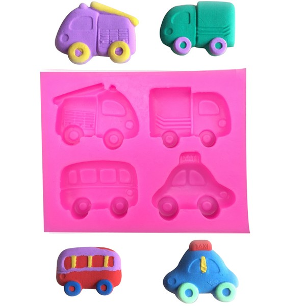 Molde de Silicone Modelo Carros cartoon