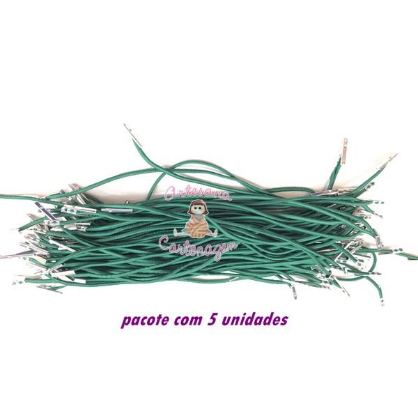 ELÁSTICO ROLIÇO VERDE BANDEIRA COM TERMINAL – 5 UNIDADES