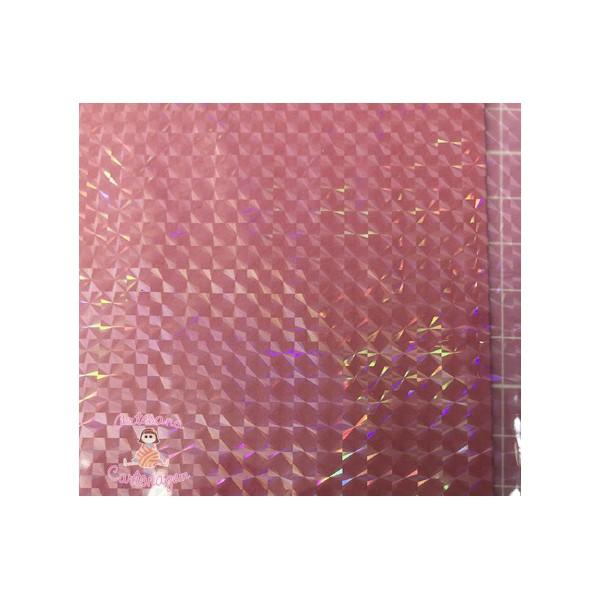 BOPP HOLOGRÁFICO QUADRADINHO - 2 m x 22 cm