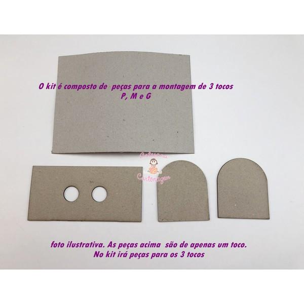KIT DE CARTONAGEM PARA TOCO FOLE - 3 tamanhos