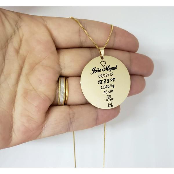 Colar Mandala Banhada a Ouro Dados Nascimento