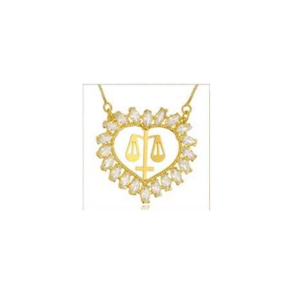 Mandala Zircônias Profissão Banhada a ouro