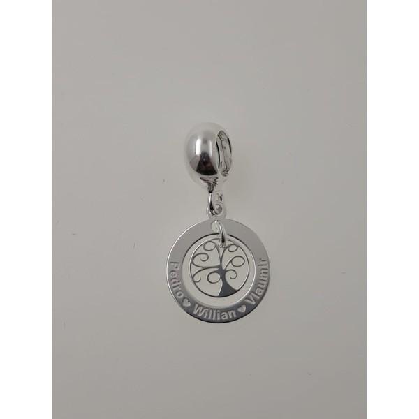 Pingente Berloque em Prata 925 Personalizado Árvore da Vida