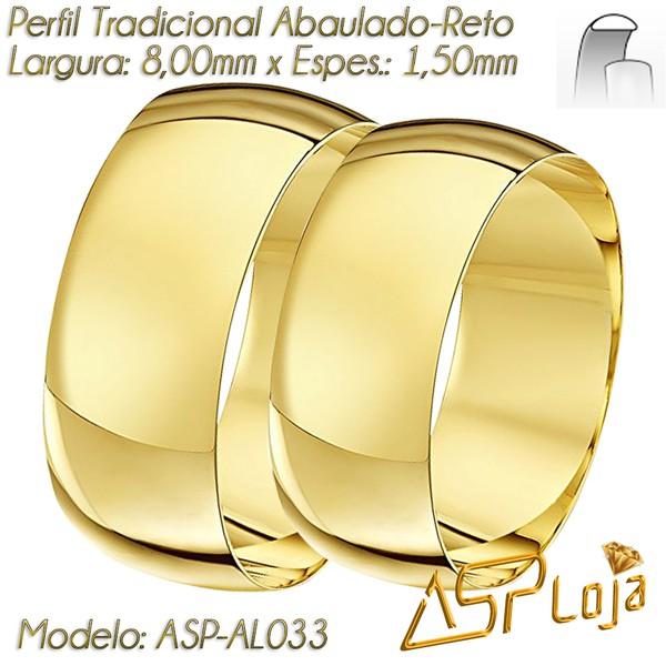 Alianças de Casamento Ouro 18K Tradicional