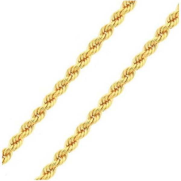 CO-14-Corrente de Ouro 18k Cordão Torcido 2,6mm-45,0cm-4,50g