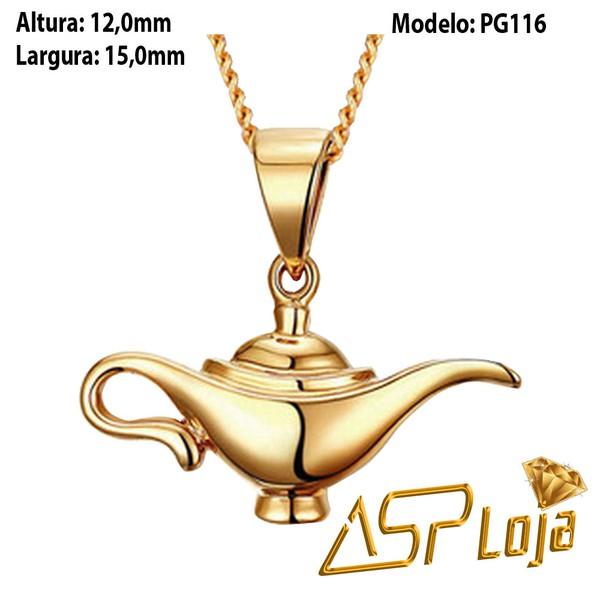Pingente de Ouro 18K Lâmpada Mágica-PG116