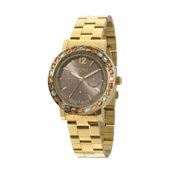 Relógio Euro Feminino Dourado Brilho Assimétrico EU6P29AGI/4X - ASP-RLG-1033