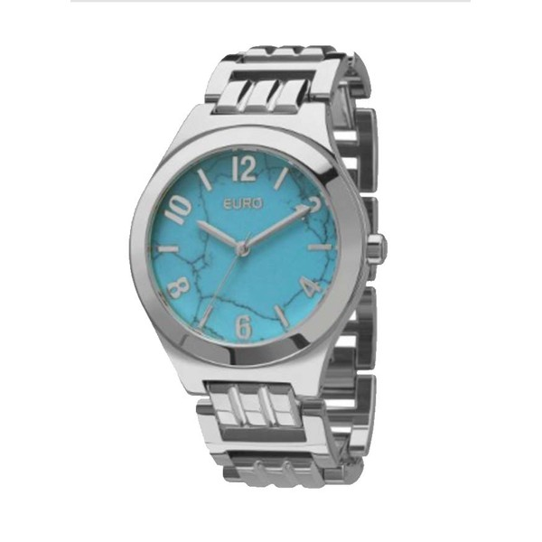 Relógio Euro Feminino Turquesa Prata - EU2033AH/K3A - ASP-RLG-2784