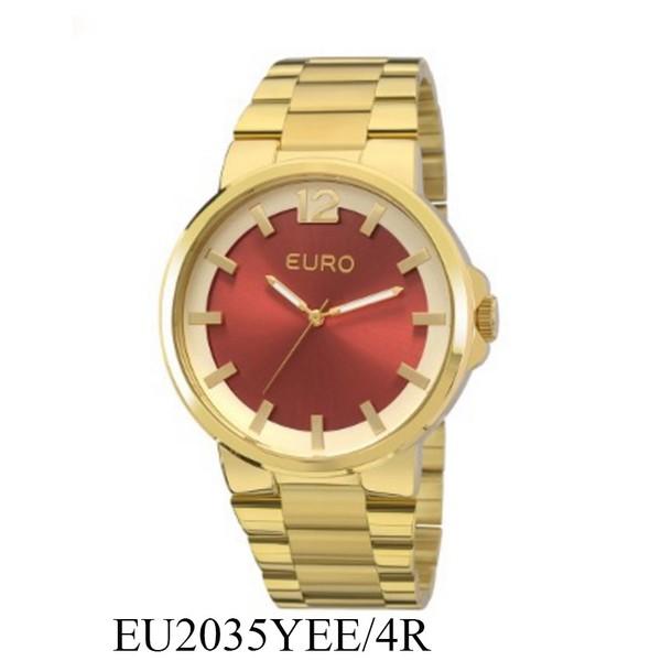 RLG-4020 - Relógio Feminino Analógico Euro Colors EU2035YEE/4R - Dourado