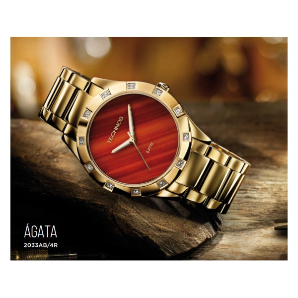 Relógio Technos Feminino Elegance Stone Collection 2033AB/4R - ASP-RLG-2326