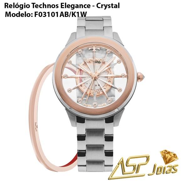 Relógio Technos Elegance Crystal Feminino – F03101AB/K1W - RLG-5360