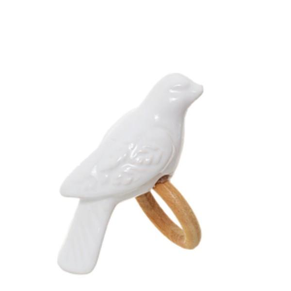 Porta guardanapo pássaros cerâmica