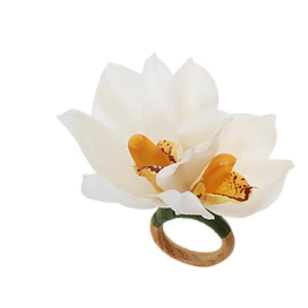 Porta Guardanapo Orquídea branca Dupla