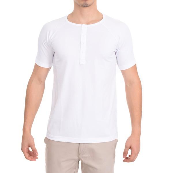 Camisa Raglan Manga Curta Branca