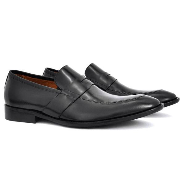 Sapato Social Penny Loafer - George Preto