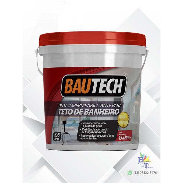 BAUTECH TINTA PARA TETO DE BANHEIRO BRANCO 3,6L