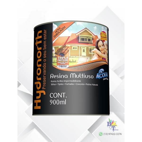 RESINA ACRÍLICA ACQUA CERÂMICA ONIX HYDRONORTH 900ML