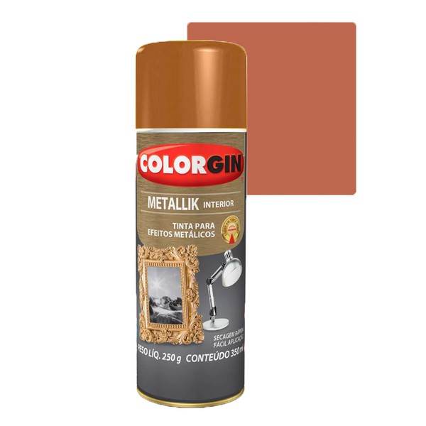 COLORGIN SPRAY METALLIK COBRE 350ML