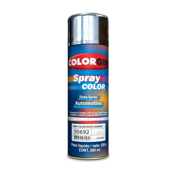 SPRAY COLOR CROMADO LAZZURIL