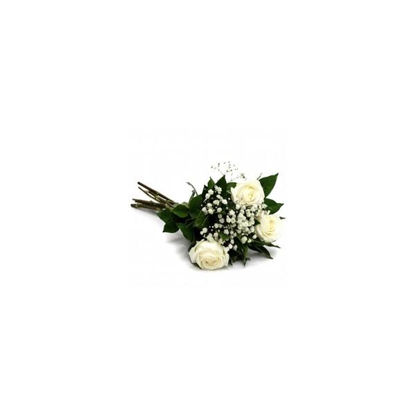 Buquê de 3 Rosas Branca