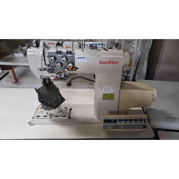 Máquina de Costura Coluna Sunstar Eletrônica 2 Agulhas
