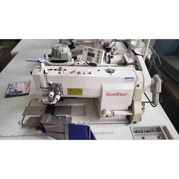 Máquina de Costura Pespontadeira Sunstar Com Aparelho Para Peitilho