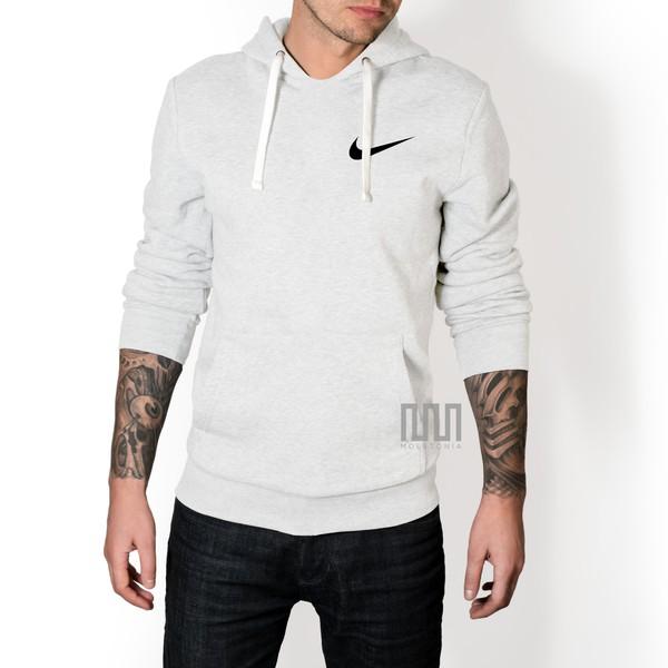 Blusa Moleton Nike Classic Unissex C/ Capuz Casaco De Frio Branca