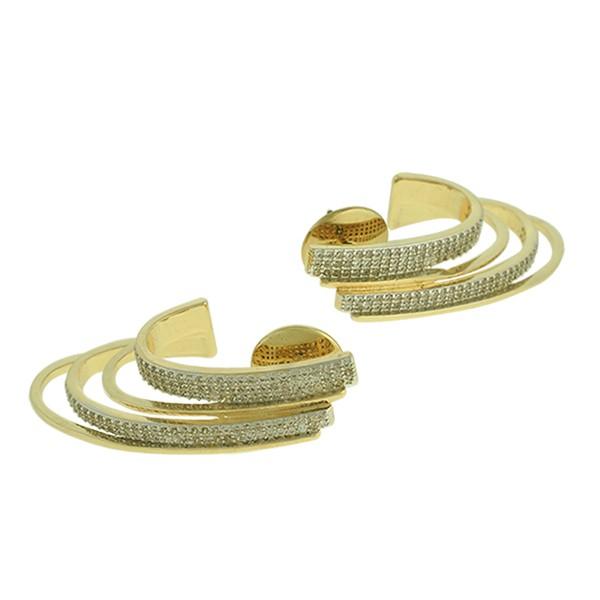 Brinco Zircônia Lesprit LB20861WRHGL Dourado Cristal