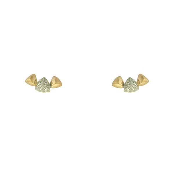 Brinco Spike Zircônia Lesprit LB21291WRHGL Dourado Cristal