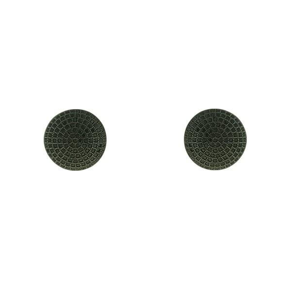 Brinco de Pressão Zircônia Lesprit LB09211BBOBK Ródio Negro Preto