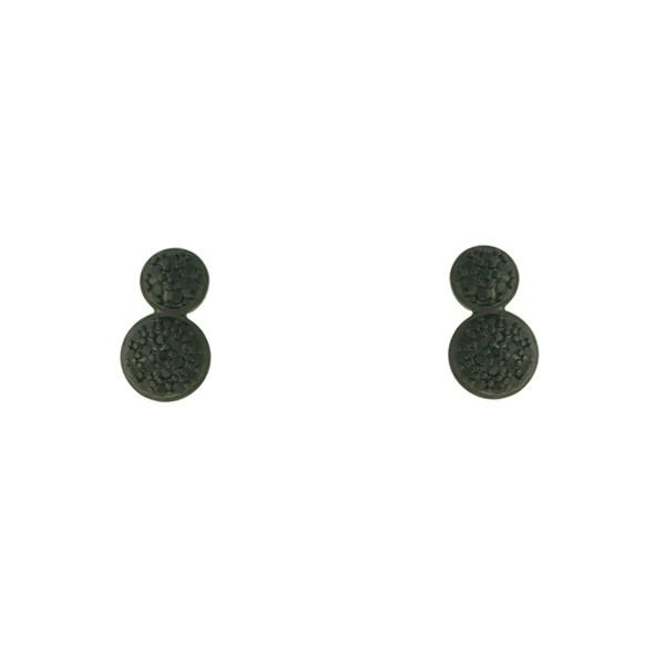 Brinco Zircônia Lesprit LB20561BOBK Ródio Negro Preto