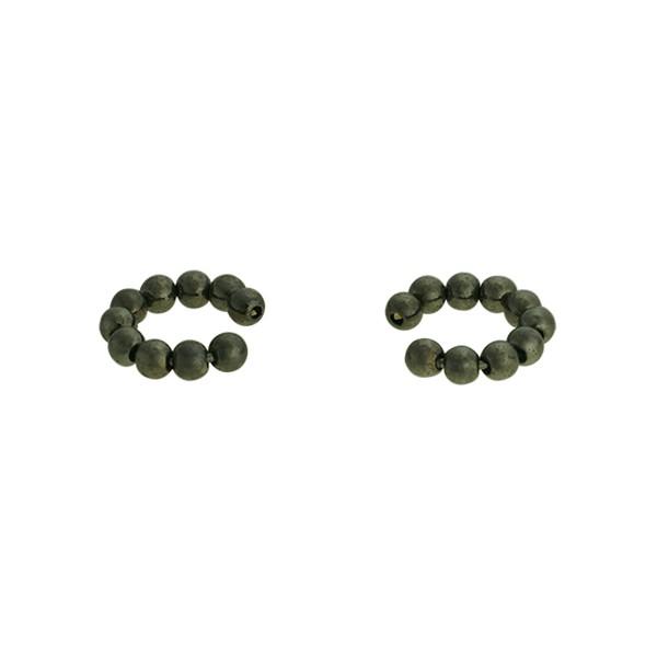 Brinco Piercing de Pressão Metal Lesprit 37511m/03 Ródio Negro