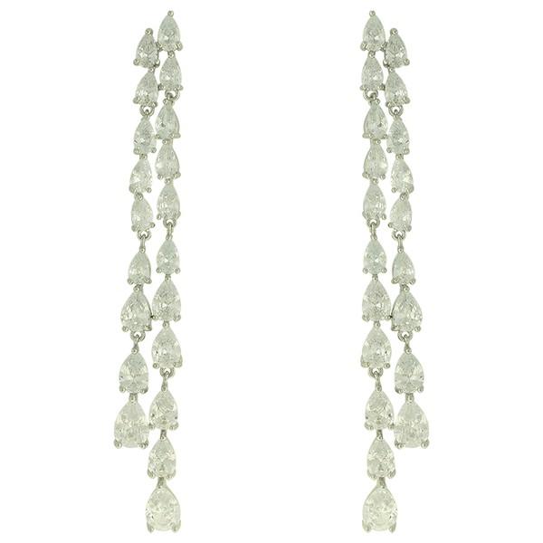 Brinco Zircônia Lesprit 15760 Ródio Cristal