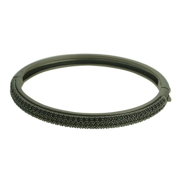 Pulseira Zircônia Lesprit LP00501BOBK Ródio Negro Preto